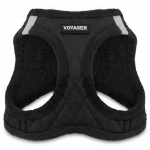 Voyager Plush Faux Leather Harness - Black