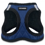 Voyager Plush Faux Leather Harness - Royal Blue