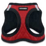 Voyager Plush Faux Leather Harness - Red