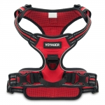 Voyager Dual-Attachment Adjustable Harness - Red Lattice