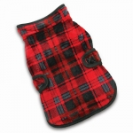 Fleece Coat - Red/Black Checkers - Reversible