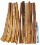 12 inches Plain Bully Stick (10 Pcs/Bag) - Odor-Free Half Cut