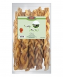 12 in Braided Bully Stick(6 Bags/Box) Odor Free