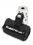 Poop bags with soft dispenser - Black