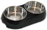 Double Pet Bowl - Black