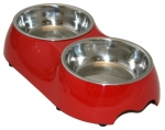 Double Pet Bowl - Red