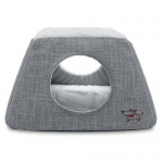 2-in-1 Cat Dome / Bed - Gray