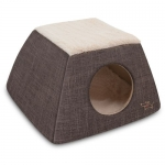 2-in-1 Cat Dome / Bed - Dark Brown