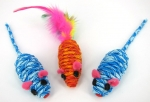 Twined Mice - blue and orange combo