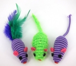 Twined Mice - purple and lime combo