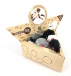 Assorted Mice - 30 pcs black/white/grey combo in a display box