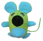 Glow-In-The-Dark Rattling Mouse  - Blue