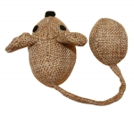 Catnip Mouse with Ball Tail - Natural