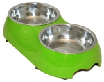 Double Pet bowl - Lime Green