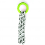 Braided Gray Cotton Rope With TPR Ring - Key Lime
