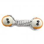Gray Cotton Rope With  Tennis Balls - Blood Orange
