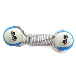 Gray Cotton Rope With  Tennis Balls - Deep Blue