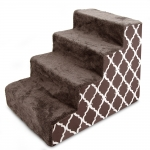 Stairs - Chocolate Brown with Lattice Print