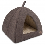 Brown Linen Tent Bed for Pets