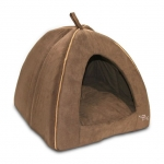 Modern Triangular Tent Bed (Dark Brown)