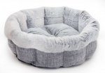 Light Gray Linen Round Bed