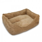 Oval Bed - Light Brown Suede