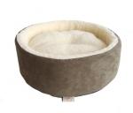 Round Nest - Olive Green Suede