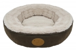 Faux Leather Doughnut Bed