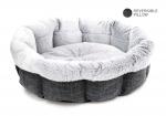 Dark Gray Round Bed